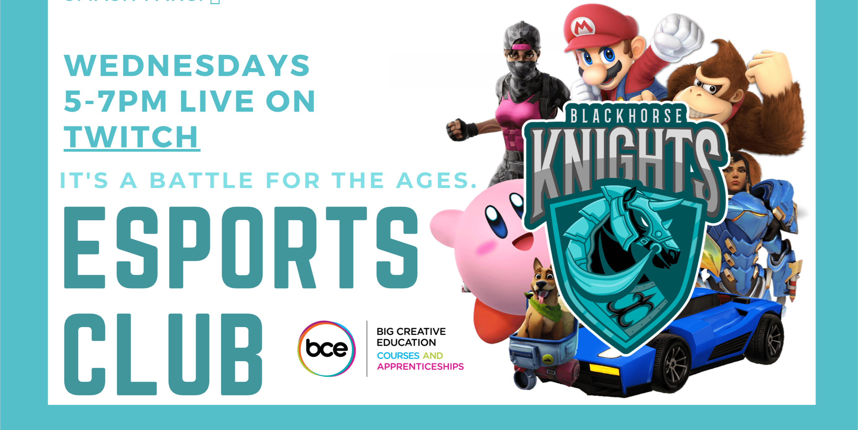 WEDNESDAY eSports with the Blackhorse Knights!